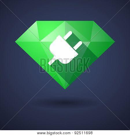 Diamond Icon With A Plug