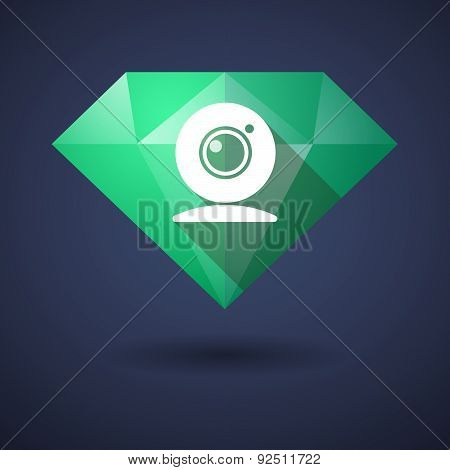 Diamond Icon With A Webcam