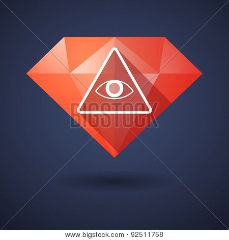 Diamond Icon With An All Seeing Eye