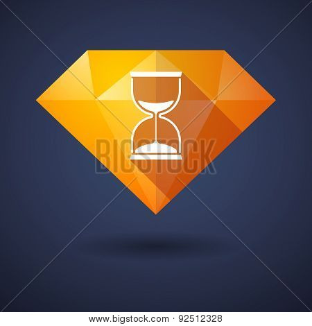 Diamond Icon With A Sand Clock
