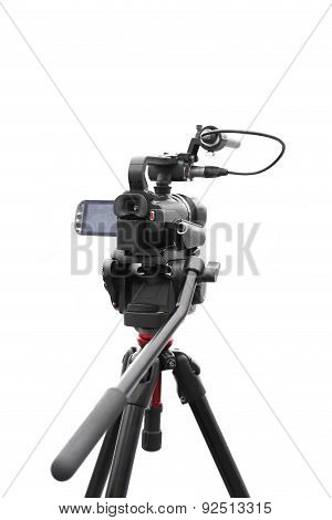 Selected Focus Camcorder isolated