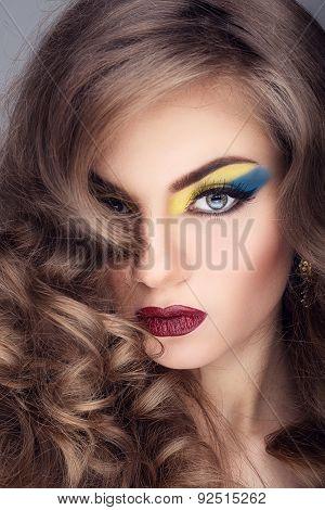 Beautiful Girl With Artistic Makeup