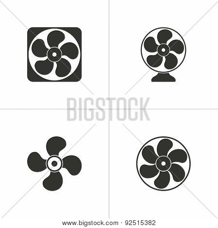 Set Of Simple Fan Icon
