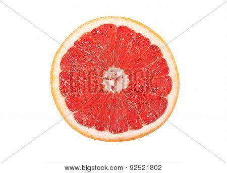 Half of grapefruit isolated on white background