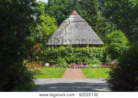 Thatched Cottage In A Park