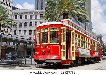 Streetcars In New Orleans Canal Street