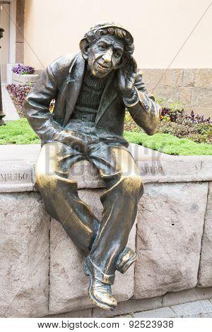 Sculpture Of Bai Milio,  Plovdiv, Bulgaria