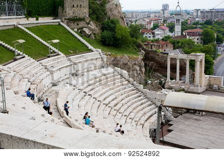 Ancient Amphitheatre In Plovdiv, Bulgaria