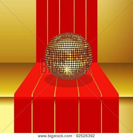 Disco Ball On 3D Step