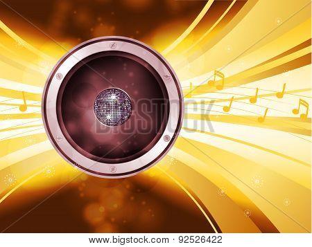 Golden Disco Light Explosion With Speaker