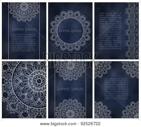 Set of cards or invitation