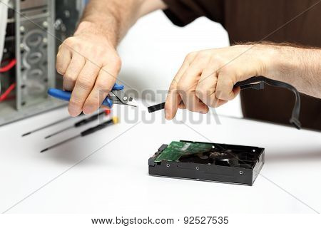 Technician Is Repairing