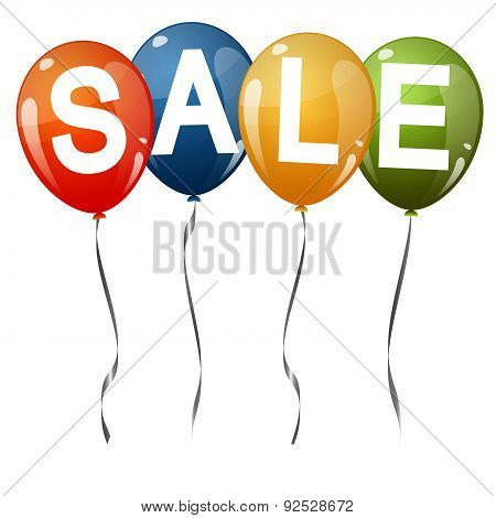 Colored Balloons With Text Sale