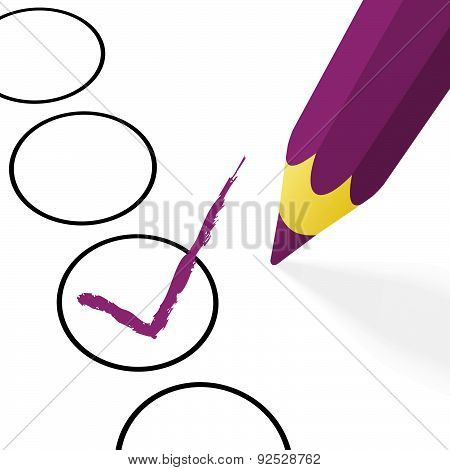 Purple Pencil With Hook
