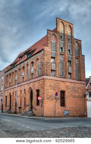Gothic tenement house in Torun, Poland.