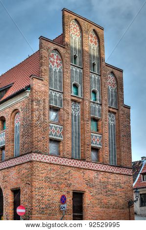 Gothic tenement house in Torun, Poland.