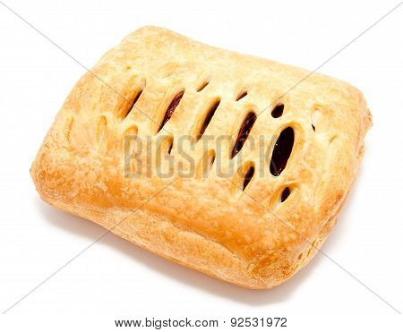 Fresh Puff Pastry Isolated On A White