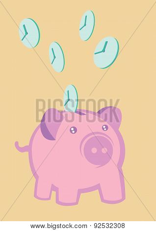 Time Is Money Creative Concept Vector Illustration