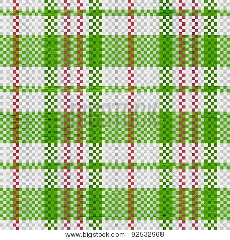 Polypropylene Woven Seamless Pattern In Green Colors