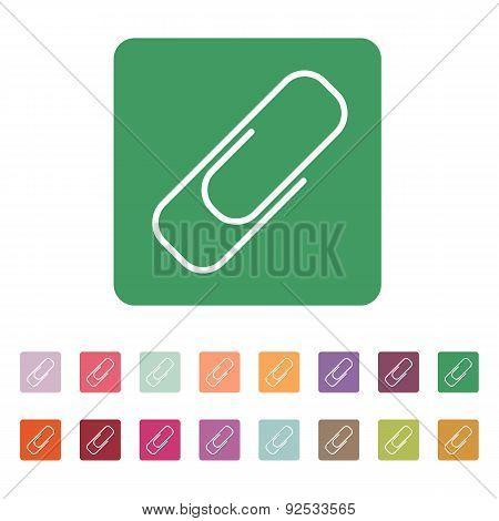 The Paper Clip Icon. Clip Symbol. Flat. Vector