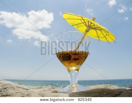 Glass With A Wine Cocktail