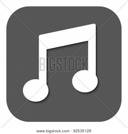 The Music note Icon. Musical Symbol. Flat