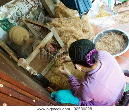Asian Woman, Coconut Fiber, Material, Tradition Product