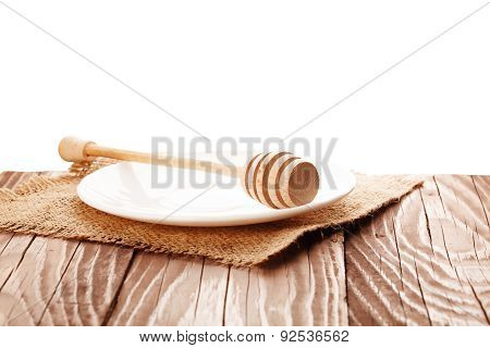 Wooden Honey Dipper