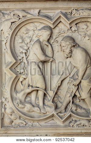 Paris - Interiors of the Sainte-Chapelle