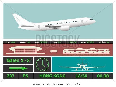 Airplane And Information Display Systems Of Airport