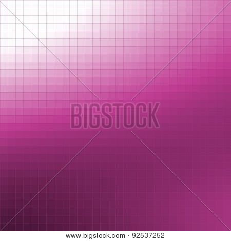 Pixel Mosaic Background - Gradation From White To Fuchsia