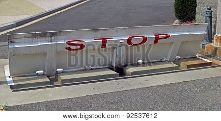 Road Blocker Close To Washington State Capitol In Washington D.c., 2008