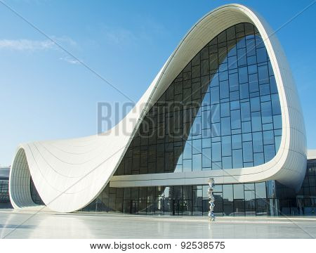 Baku- May 17: Heydar Aliyev Center On May 17, 2015 In Baku, Azerbaijan. Heydar Aliyev Center Won The