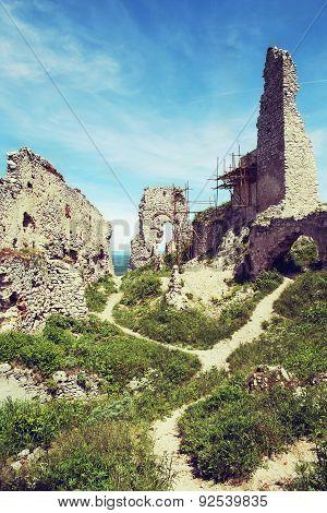 Ruins Of Plavecky Castle, Slovakia