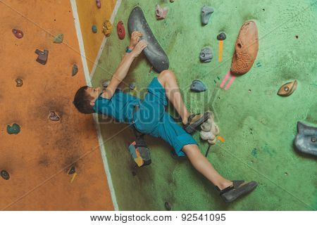 Little Boy Climbing Indoor