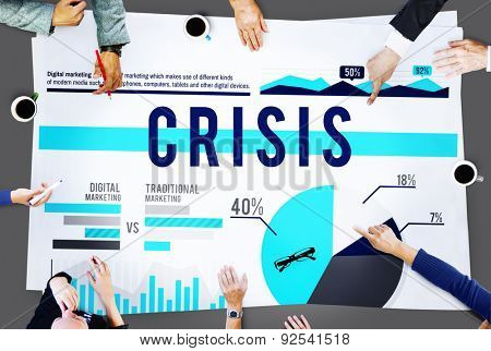 Crisis Problem Recession Business Marketing Concept