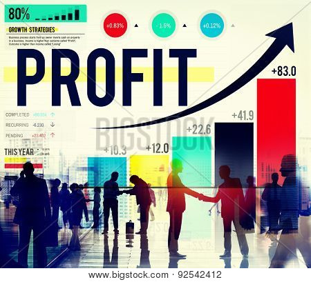 Profit Finance Data Analysis Money Accumulation Concept