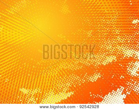Hot sunny orange background