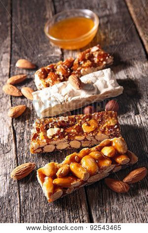 almond honey bar, confectionery