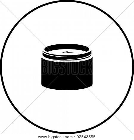 facial moisturizer cream jar symbol