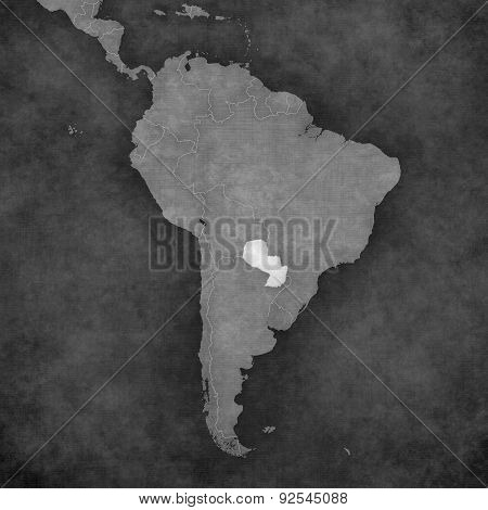 Map Of South America - Paraguay