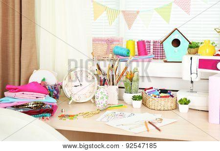 Beautiful comfortable seamstress workplace