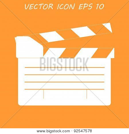 Movie Clapper Board, Movie Maker Vector