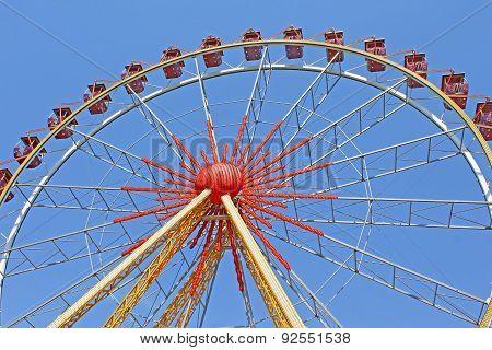 Largest Ferris Wheel In Ukraine. Odessa, Shevchenko Park