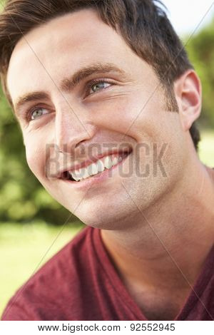 Head And Shoulders Portrait Of Smiling Man