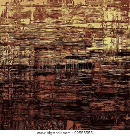 Vintage aged texture, colorful grunge background with space for text or image. With different color patterns: yellow (beige); brown; gray; black
