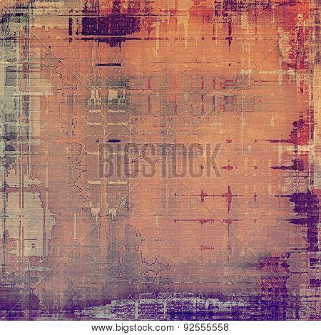Vintage texture. With different color patterns: brown; gray; red (orange); purple (violet)