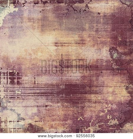 Old texture with delicate abstract pattern as grunge background. With different color patterns: yellow (beige); brown; gray; purple (violet)