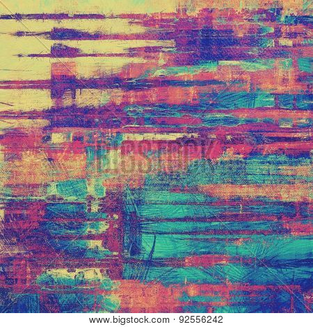 Retro background with grunge texture. With different color patterns: yellow (beige); blue; purple (violet); pink