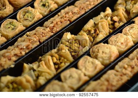 Assorted baklawa in a gift box